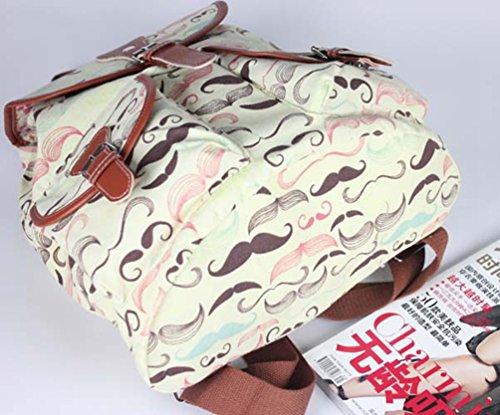 YiLianDa Damen Mädchen Casual Vintage Canvas Haltbare Segeltuch Taschen Reisetaschen Schultaschen Rucksack D
