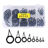 75Pcs Angelrute Rutenring Spitzenring Guide Eye Rings Reparatur Set Keramik Rod Tip Tops Spitze Set für Salzwasser Angeln 6/8 / 10/12/20/25/30#