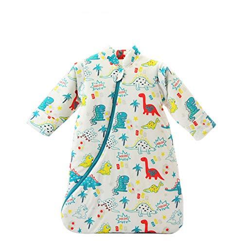 Baby Winter schlafsack Kinder schlafsack 3.5 Tog Schlafsaecke aus Bio Baumwolle Verschiedene Groessen von Geburt bis 4 Jahre alt (M/6-18Monate, green_dinosaur)