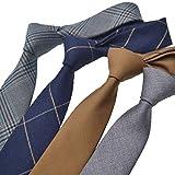 jieyou Blau gestreifte krawatte von 6 cm. Geeignet für verschiedene gelegenheiten.