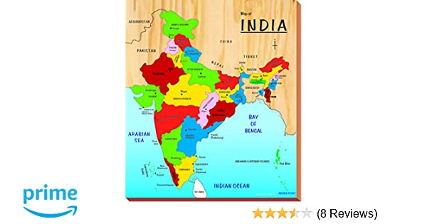 india map with all states