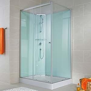 cabine de douche compl te corsica 140 x 90 cm cabine de douche int grale avec porte coulissante. Black Bedroom Furniture Sets. Home Design Ideas