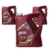 MANNOL Diesel TDI 5W-30 C3 DPF, 3 * 5 Liter