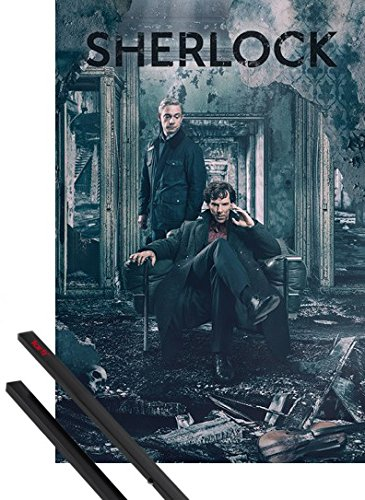 Poster + Suspension : Sherlock Poster (91x61 cm) Déstruction Et Kit De...