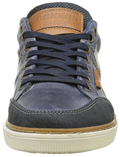 Dockers by Gerli Herren 38po010-201 Low-Top Blau (Blau/Braun 603)