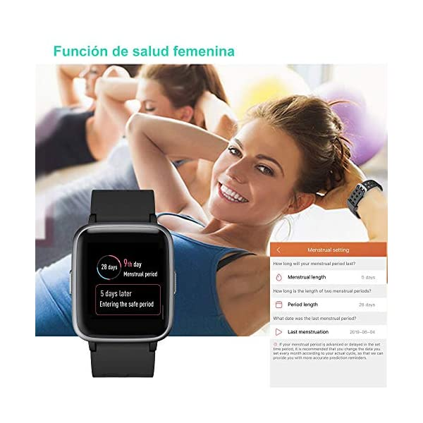 YAMAY Smartwatch, Impermeable Reloj Inteligente con Cronómetro, Pulsera Actividad Inteligente para Deporte, Reloj de… 7