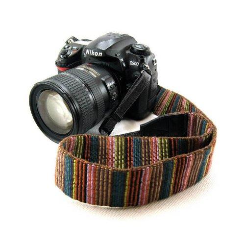 Beiuns universal weiche Farbstreifen Kameragurt Trageriemen Kamera Gurt Schulter Strap Belt Tragegurt Schultergurt Neck Gürtel für Einzel DSLR SLR Camera von Leica NIKON Sony Canon Olympus Pentax usw. - 3