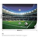 Papier peint photo stade de football murale, XL - 254cm x 184cm