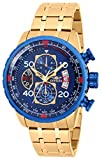 Invicta Aviator Japanese Gold Men