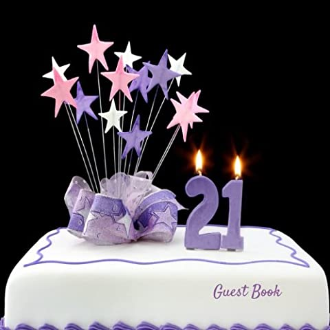 Guest Book: Twenty First, 21, Guest Message Book, Keepsake, With 100 Formatted Lined & Unlined Pages With Quotes For Family And Friends To Write In, ... 8.5