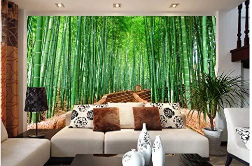 VVBIHUAING 3D Wand Wandbilder Dekorationen Aufkleber Tapete Bambuswaldlandschaft Moderne Kunst Zimmer Hintergrund Kunst Kinder Küche (W) 400x(H) 280cm -