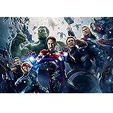 Puzzle The Avengers Captain America Comics, Casse-tête en Bois, Affiche de Film Marvel Hulk 300/500/1000 pièce P626 (Color : D, Size : 1000pc)