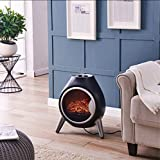 Fineway. Electric Stove Heater with Log Burner Flame Effect Fire - 1800W,