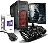 shinobee SSD Gaming-PC Komplett-PC AMD 6-Kern 6x4.10 GHz, GeForce GTX1050, 22' LED, Gaming Tastatur+Maus, 8GB DDR3, 128GB SSD + 500GB HDD, Windows10, Gamer PC, Gaming Computer, Desktop PC #5703