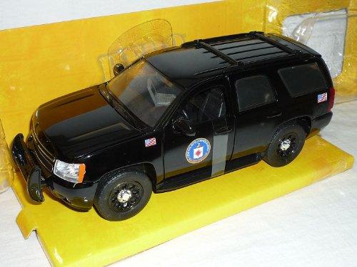 Chevrolet Chevy Tahoe Cia Patrol Polizei Schwarz 1/24 Jada Modellauto Modell Auto