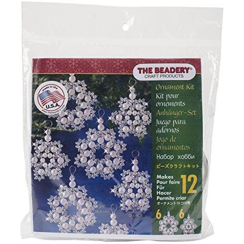 Beadery Kunststoff Holiday Perlen Ornament Kit Kristall und Perle Schneeflocken 2,5Macht 12