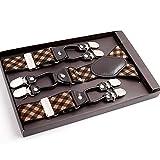 LLZGPZBD Hosenträger/Herren Hosenträger für Hosen Knopf Hose Bracket Male Vintage CommercialGurt Männlich 125CM YiA027, Eins