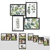 Kunststoff Bilderrahmen Fotorahmen Collage zum inidividuellen gestalten 4x 13x18cm Schwarz mit Normalglas und Klammern