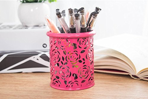 creative-brush-pot-small-chrysanthemum-hollow-out-environmental-protection-coatingpencil-and-pen-cup