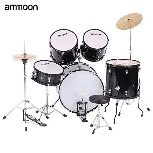 ammoon-5-pezzi-per-adulti-completo-di-drums-drum-kit-strumenti-musicali-a-percussione-piatti-da-batt