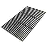 Parrilla para barbacoa, de hierro fundido, rectangular, 67x 40cm, sólida, para barbacoa de carbón o gas