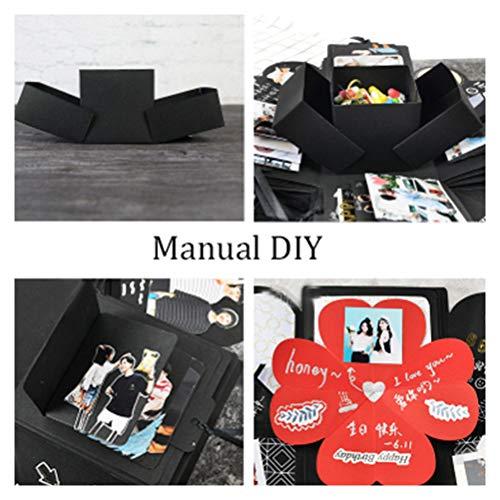 nuosen Explosion Box, Ceartive DIY handmade Explosion Photo Album Scrapbooking Love Memory Gift Box for Surprise Birthday, Valentine, Anniversary, Wedding, Festival