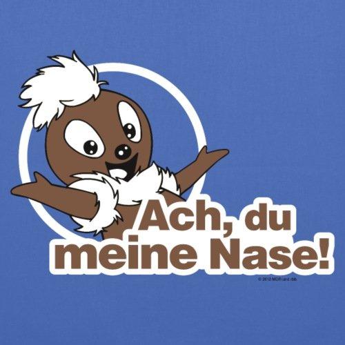 Spreadshirt Sandmännchen Pittiplatsch Ach Du Meine Nase Stoffbeutel Hellblau
