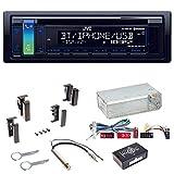 JVC KD-R881BT USB MP3 Autoradio Bluetooth CD Einbauset für Audi A4 B5 A6 4B C4 A8