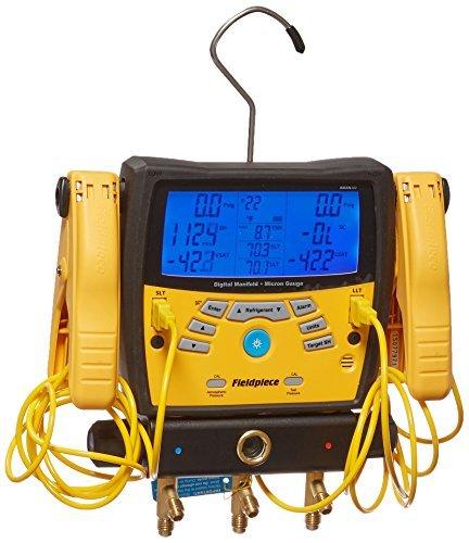 fieldpiece sman3603-Port-Digitale Monteurhilfe mit Mikron Gauge von Standard darüber Netzteil -