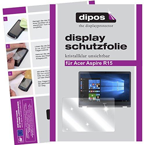 dipos I 2X Schutzfolie klar passend für Acer Aspire R15 Folie Bildschirmschutzfolie