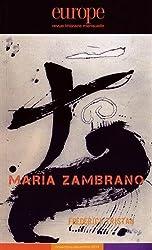 Europe, N° 1027-1028, Novembre-décembre 2014 : Maria Zambrano