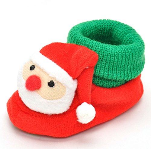 Häkeln Booties Newborn (ModaKeusu Baby Newborn Infant M?dchen h?keln stricken warme Stiefel Socken Schuhe Prewalker)