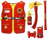 GYD Mega Feuerwehr Set XXL Oberteil Beil Axt Feuerlöscher uvm. Feuerwehrmann Kostüm