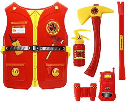 GYD Mega Feuerwehr Set XXL Oberteil Beil Axt Feuerlöscher uvm. Feuerwehrmann (Feuerwehrmann Kostüme Kinder Verkleiden)