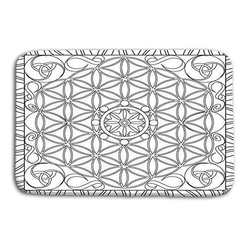 zexuandiy Non-Slip Doormat Non-Woven Fabric Floor Mat Indoor Entrance Rug Decor Mat 15.7