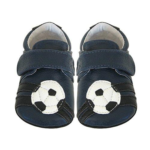 Jack & Lily Soccer Baby Jungen Lauflernschuhe Fußball Marineblau