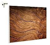 B-wie-Bilder.de Magnettafel Pinnwand mit Motiv Muster Holz hell Größe 60 x 80 cm