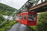 Alu-Dibond-Bild 120 x 80 cm: Red wagon of Wuppertal Suspension Railway, Bild auf Alu-Dibond