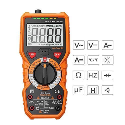 KQKGFE Digital Multimeter 6000 Grafen DC/AC Hfe-Tester Wechselstrom-Voltage-Widerstandsfrequenz Temperatur Line Voltage Tester