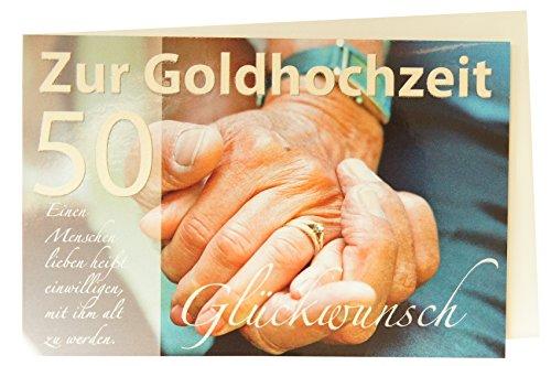 Glückwunschkarte 50 zur Goldenen Hochzeit