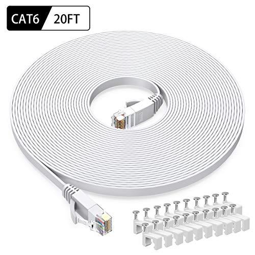Intelart Cat 6 Ethernet-Kabel 20FT-White 20FT-White