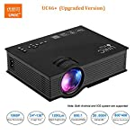 Unic UC46+ Projector Wireless WIFI 1200 Lumen 800*480 Full HD LED Video Home Cinema Support Miracast DLNA Airplay Portable Beamer. Product Description: Built-in Wifi Connection System UC46+ with built-in wifi connection system, you can just dowmload ...