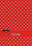 Le cahier d'Elodie - Séyès, 96p, A5 - Petits c urs