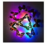 Hniunew 20 StüCk Wand-Sticker Schmetterling Led Lichter Aufkleber 3D Wandtattoo Fensterbeleuchtung Haus Wanddekoration Luminous Wandaufkleber Wandtattoo Wanddeko FüR Dekoration ZufäLlige