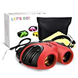 DMbaby 8x21 Compact Fogproof Binoculars for Hiking Hunting Birthday Gifts for Boys Red