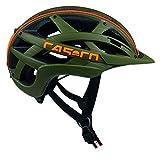 Casco Erwachsene Cuda Mountain Fahrradhelm, Olive-Orange, M