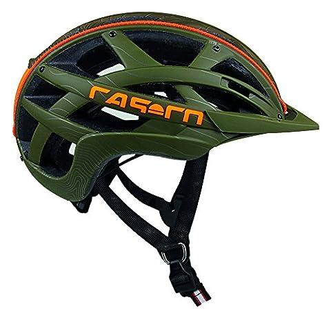 Casco Erwachsene Cuda Mountain Fahrradhelm, Olive-Orange, L