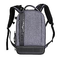 K&F Concept® Lightweight Camera Backpack Nylon Water Resistant Multipurpose Bag for Digital DSLR Cameras Laptop Ipad Light Grey Color(17.32*6.30*11.42�?�)