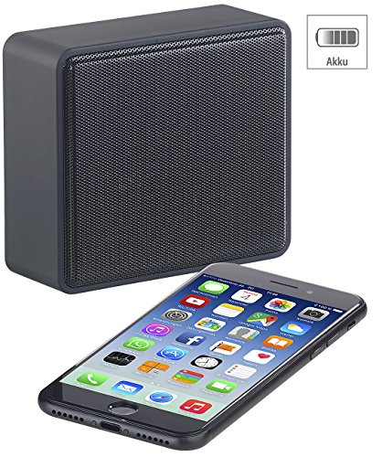 auvisio Smartphone Lautsprecher: Kompakter Lautsprecher, Bluetooth, 6 Watt, 4 Std. Laufzeit, 600 mAh (Akkubetriebener Lautsprecher)