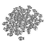 ULTNICE 50 Stück Fisch Perlen Spacer Beads für DIY Schmuck Halskette Armbänder